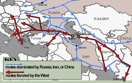 Oil Pipelines of Central Asia and Caucasus